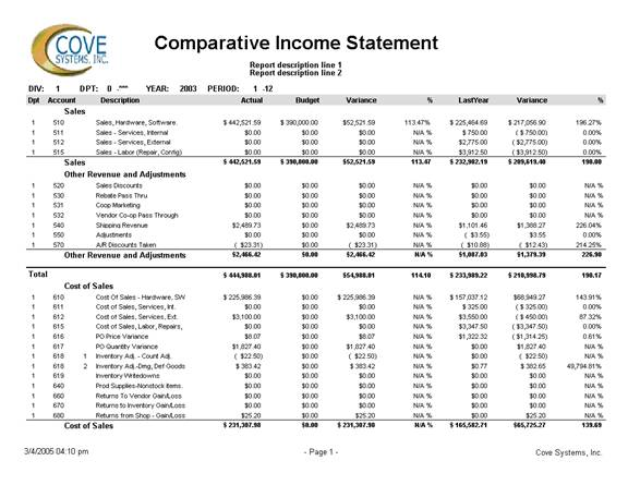 income statement business plan template .